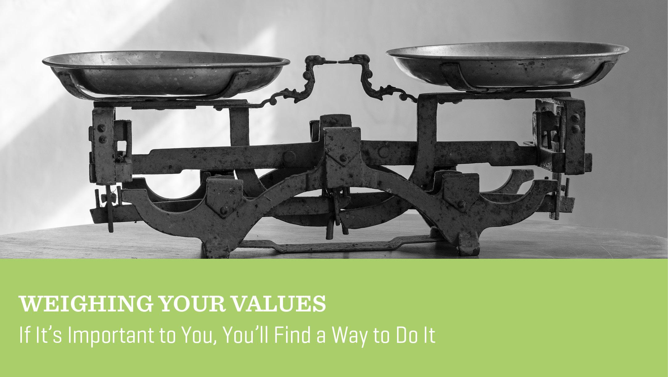 Weighing Your Values